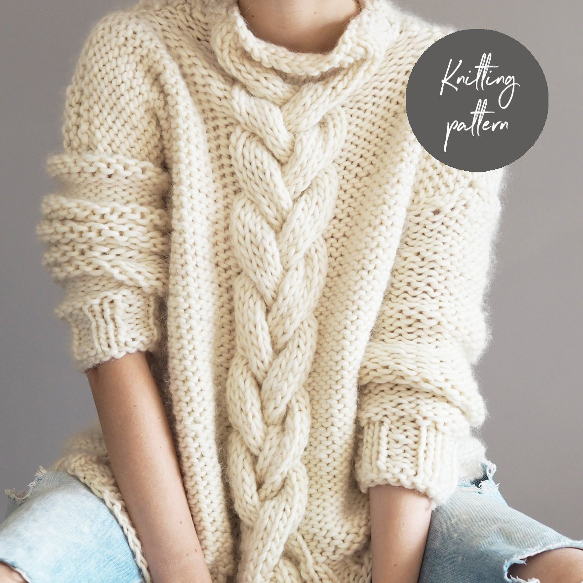 Knit Jumper Pattern Knitting Pattern Cable Knit Jumper Instant Download Sweater Etsy