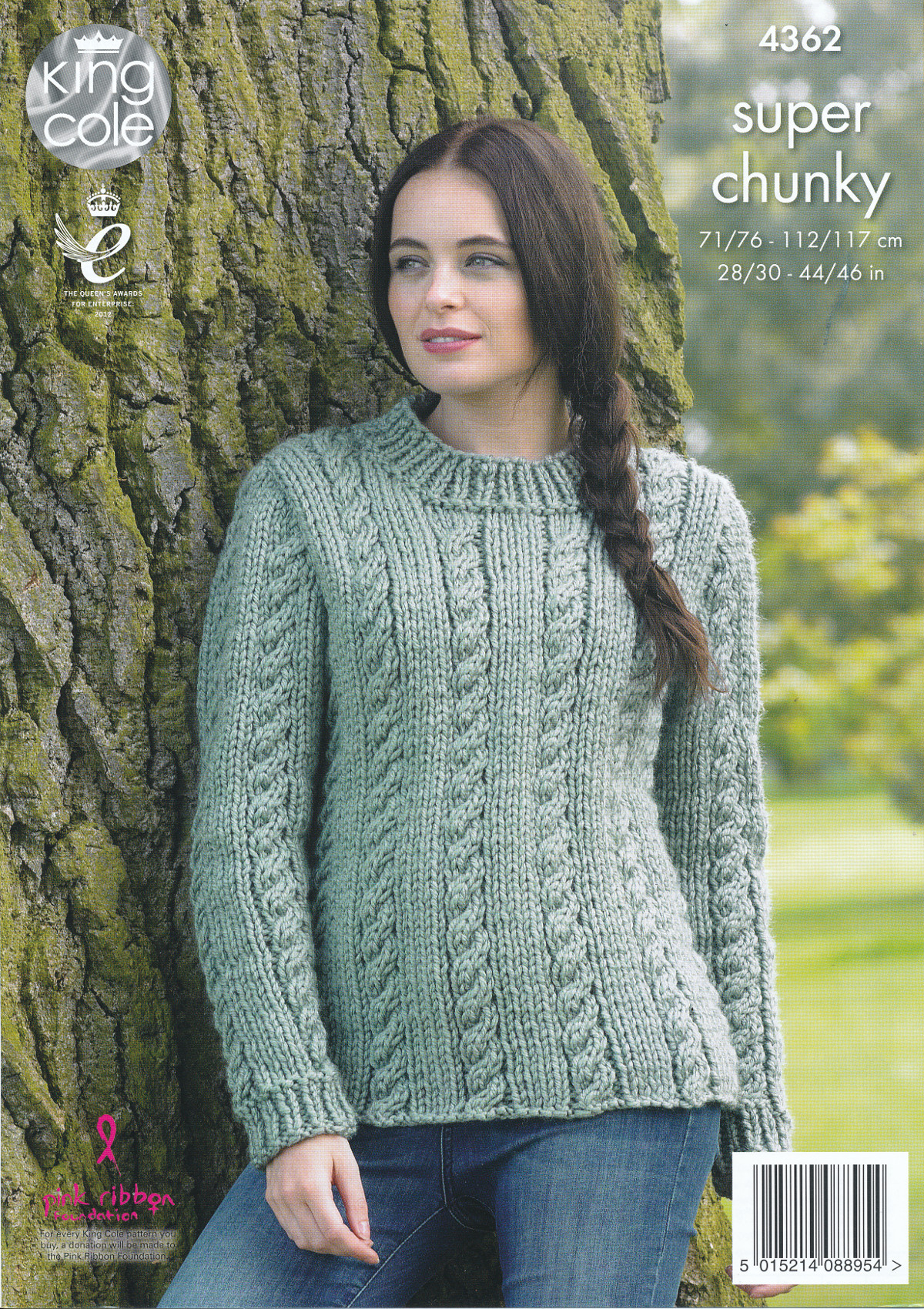 Knit Jumper Pattern Ladies Super Chunky Knitting Pattern King Cole Cable Knit Jumper