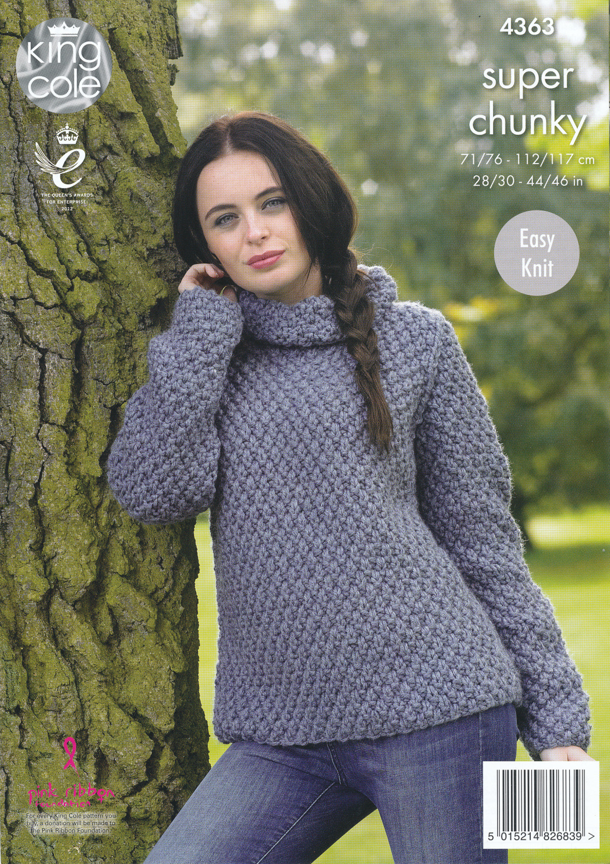 Knit Jumper Pattern Ladies Super Chunky Knitting Pattern King Cole Easy Knit Sweater