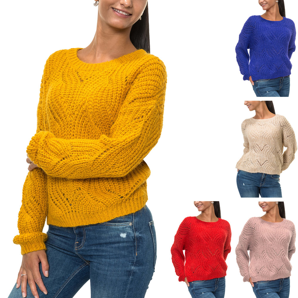 Knit Jumper Pattern Only Womens Knit Jumper O Neck Sweater 1600
