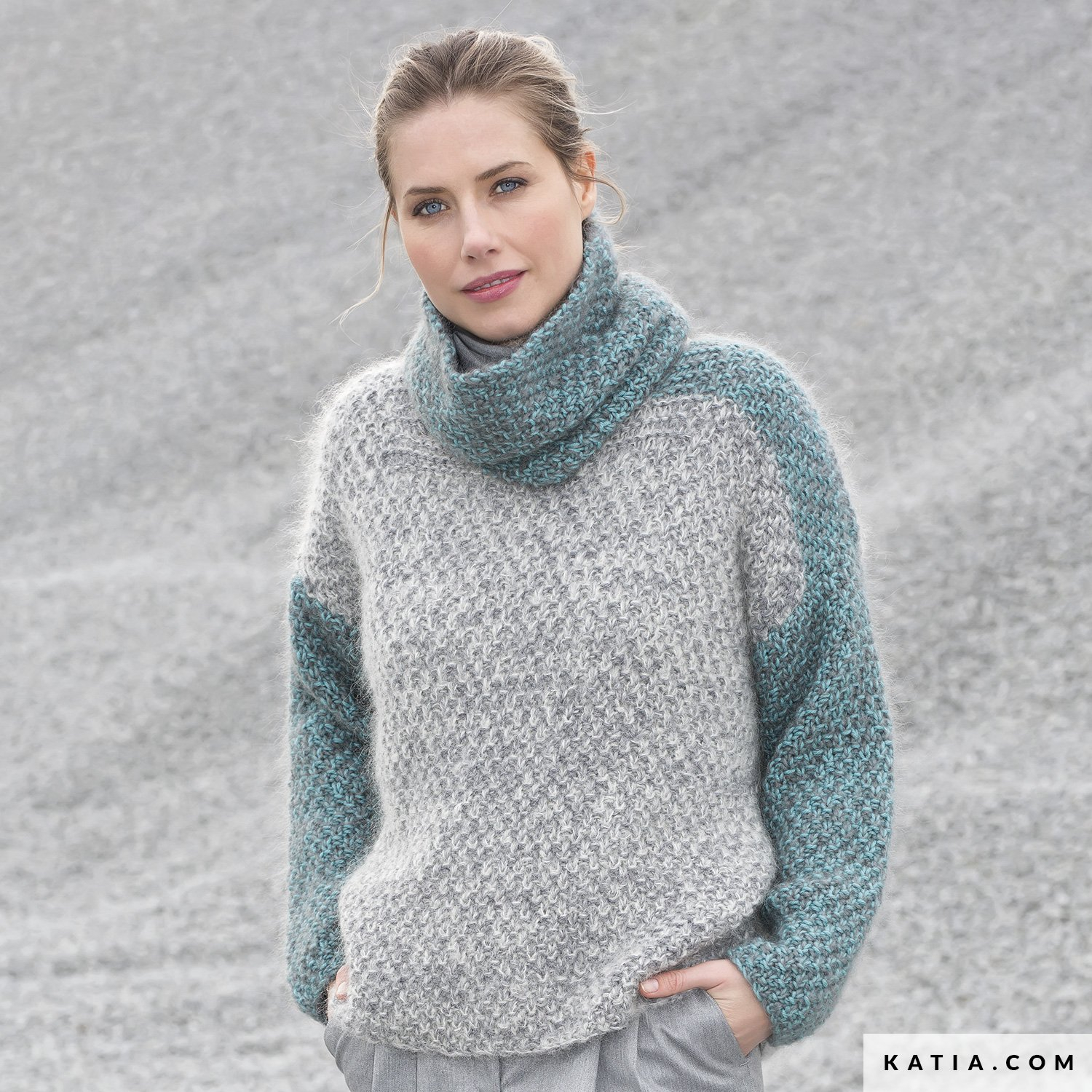 Knit Jumper Pattern Sweater Woman Autumn Winter Models Patterns Katia