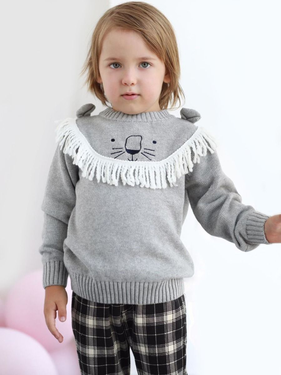 Knit Jumper Pattern Wholesale Novelty Lion Pattern Knitted Jumper Little