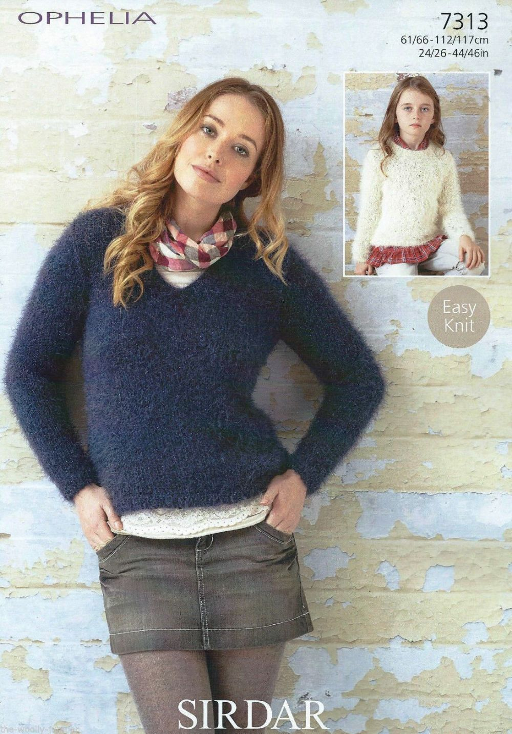 Knit Sweaters Patterns 7313 Sirdar Ophelia Chunky Easy Knit Sweater Knitting Pattern To Fit 24 To 46