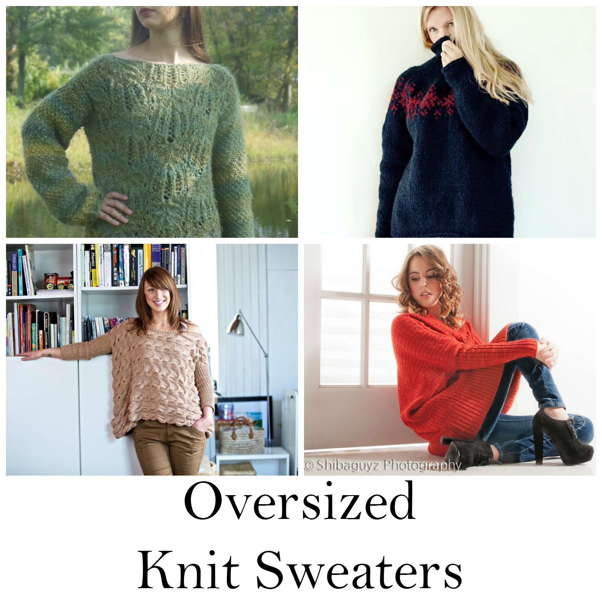 Knit Sweaters Patterns 9 Patterns For Oversized Knit Sweaters On Craftsy