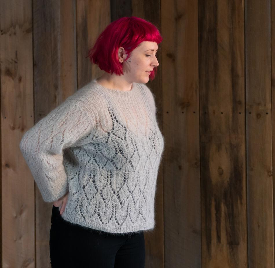 Knit Sweaters Patterns Atmosphere Lace Mohair Pullover Sweater Pattern Download Knitting Pattern Free With Yarn Purchase