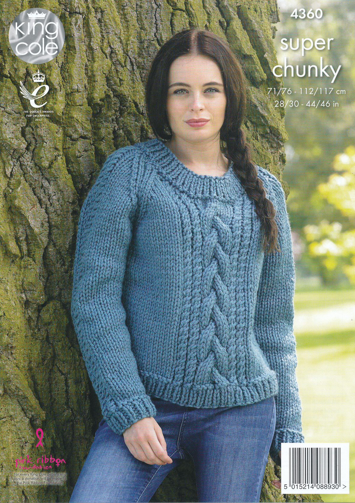 Knit Sweaters Patterns Details About Ladies Super Chunky Knitting Pattern King Cole Cable Knit Sweaters Jumpers 4360