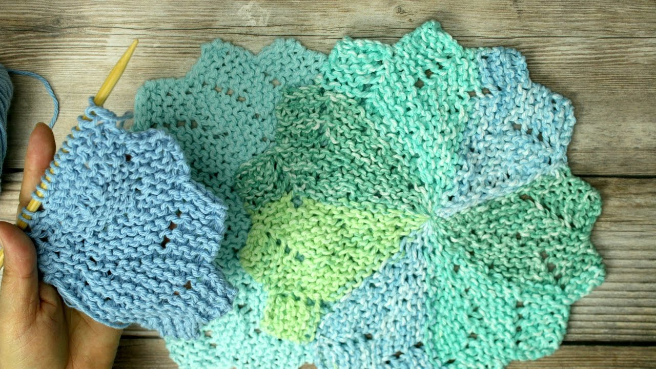 Knit Washcloth Patterns Learn To Knit Flower Shaped Washcloth Aka Almost Lost Washcloth Video 2