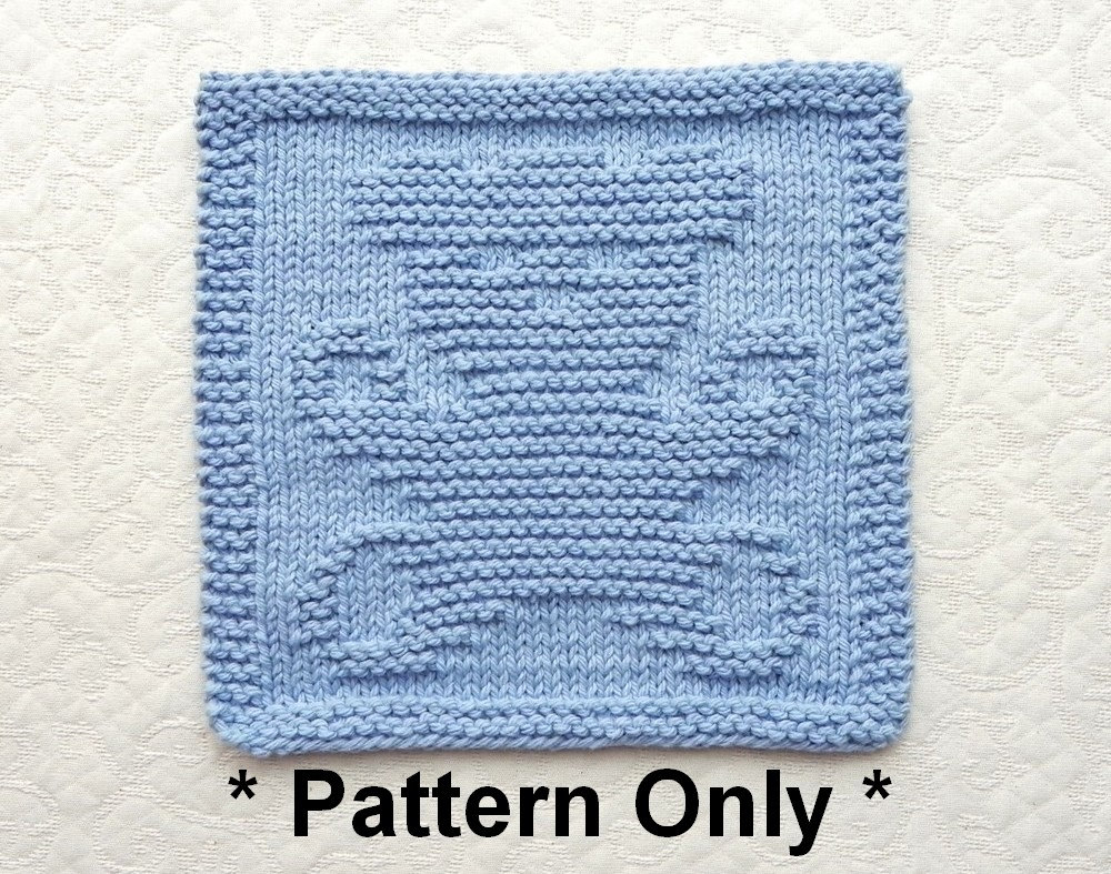 Knit Washcloth Patterns Teddy Bear Knit Square Pattern