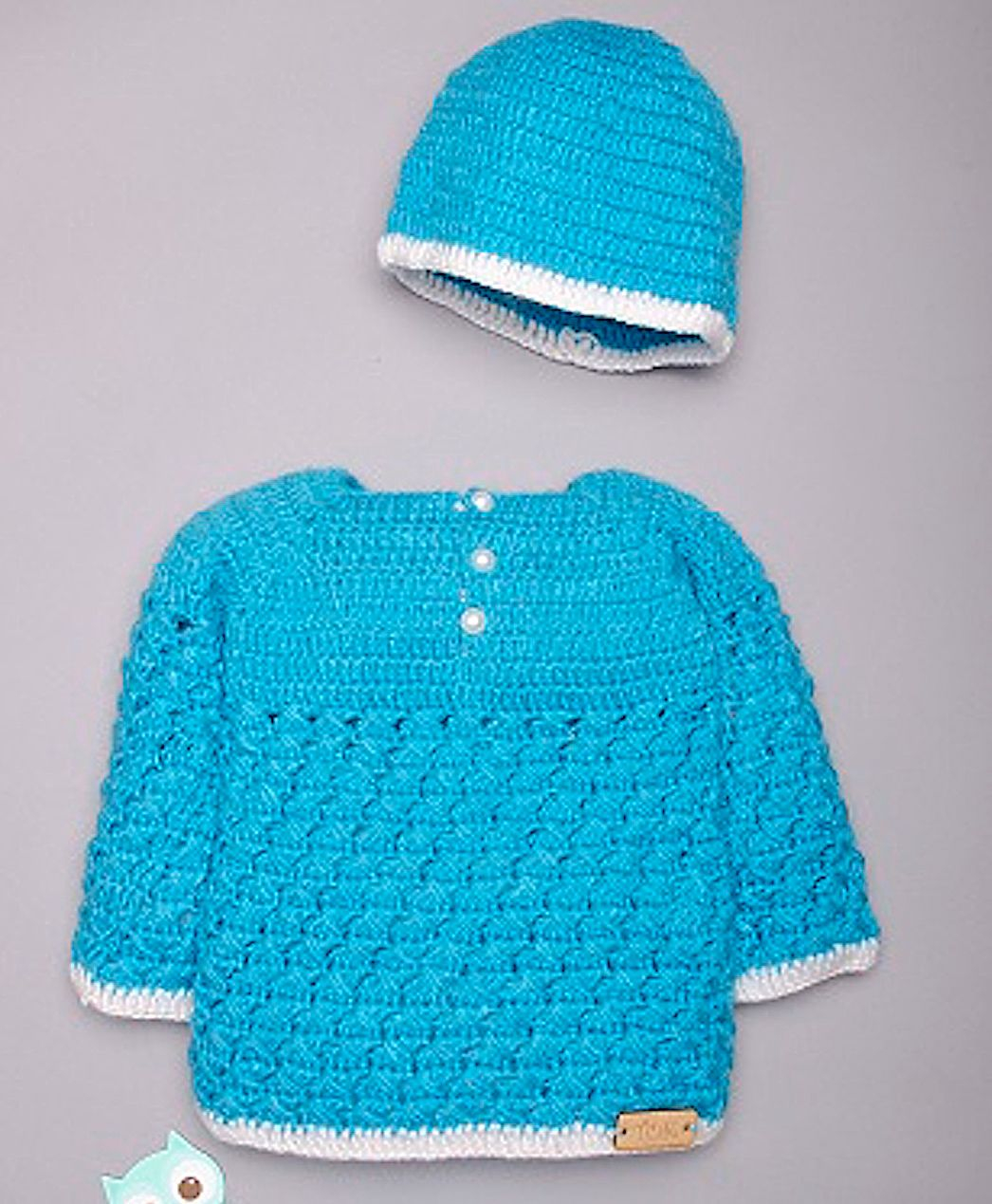Knit Zig Zag Pattern Buy The Original Knit Zig Zag Pattern Crochet Full Sleeves Sweater With Cap Blue For Girls 12 24 Months Online In India Shop At Firstcry