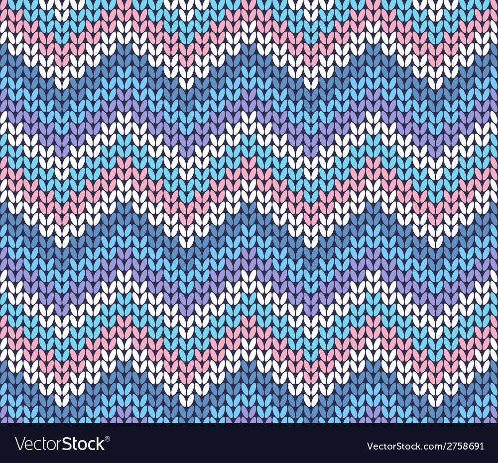 Knit Zig Zag Pattern Fresh Ethnic Winter Knitted Abstract Zigzag