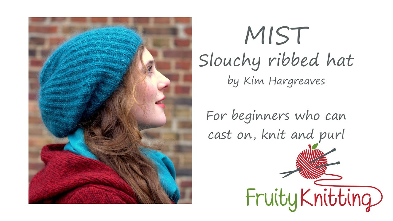 Knitrowan Com Free Knitting Patterns Mist Slouchy Ribbed Hat Kim Hargreaves