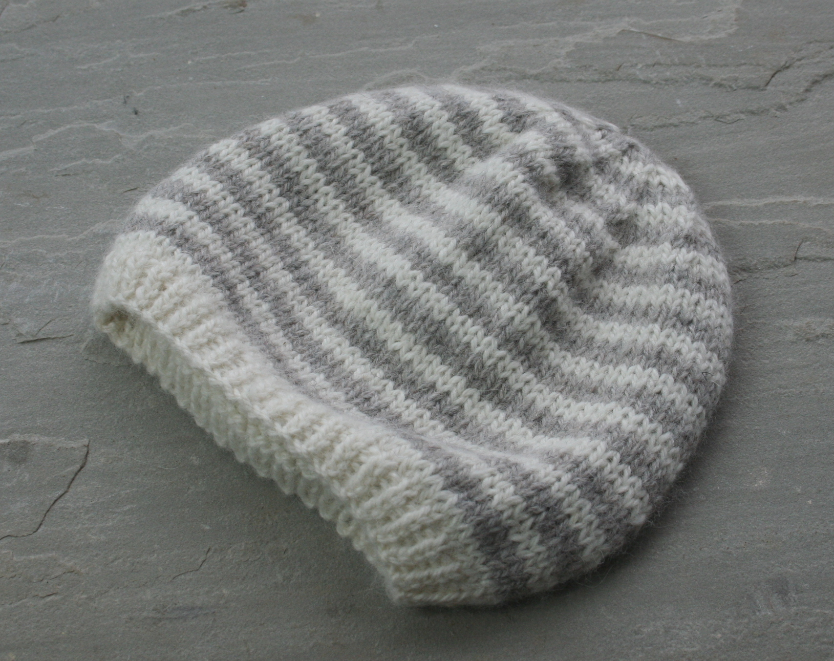 Knitted Baby Beanie Pattern Striped Ba Beanie Pattern
