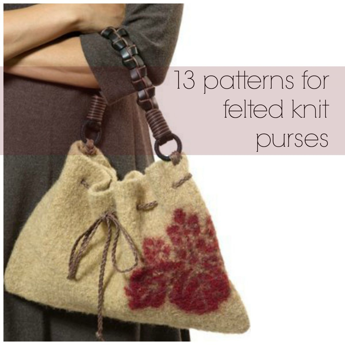 Knitted Bag Pattern 13 Patterns For Felted Knit Purses Allfreeknitting