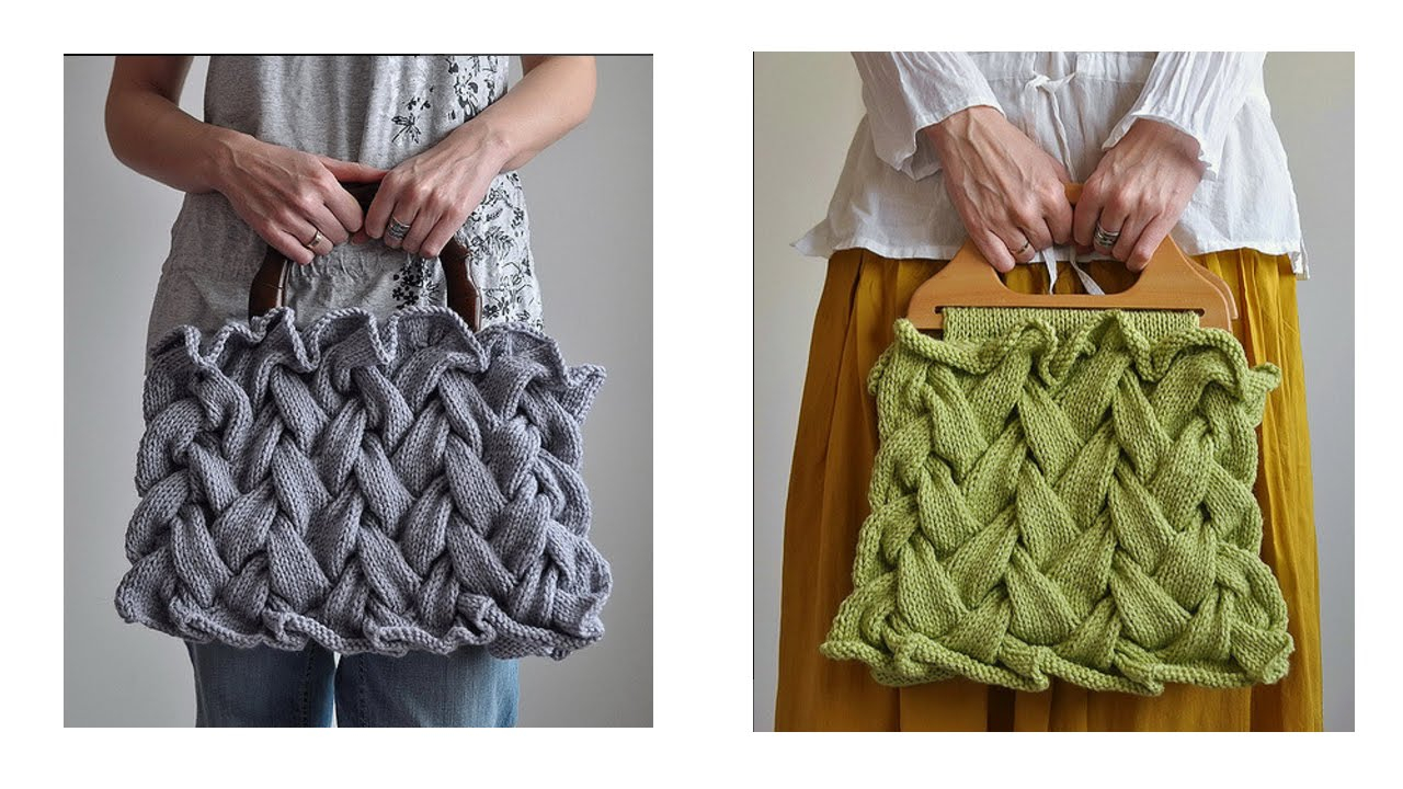 Knitted Bag Pattern Cable Knitting Patterns Knitting Bag