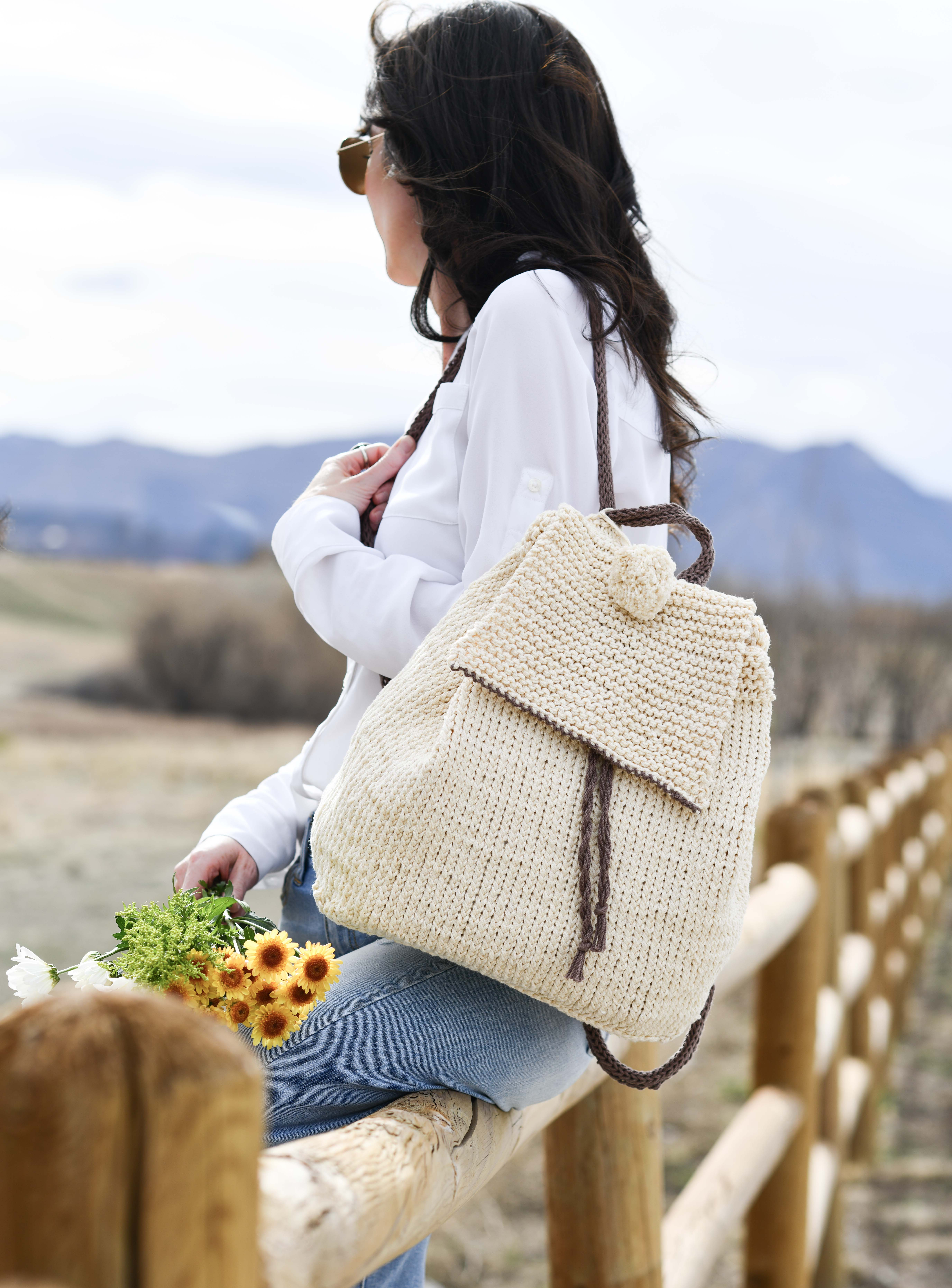 Knitted Bag Pattern How To Knit A Backpack Easy Knitting Pattern Mama In A Stitch