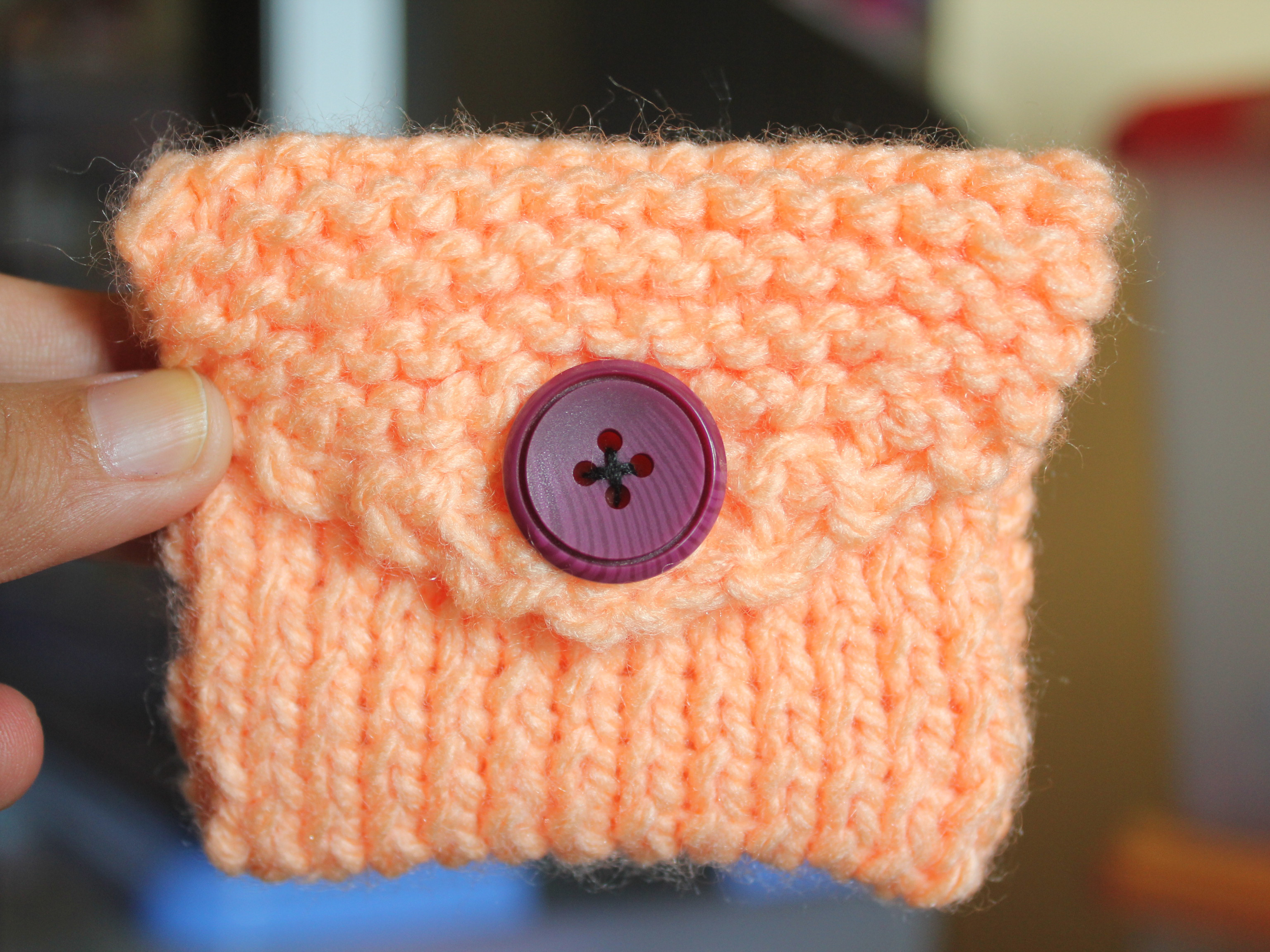 Knitted Bag Pattern How To Knit A Coin Purse With Pictures Wikihow