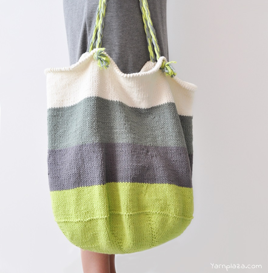 Knitted Bag Pattern Knitted Tote Bag Free Pattern Yarnplaza For Knitting