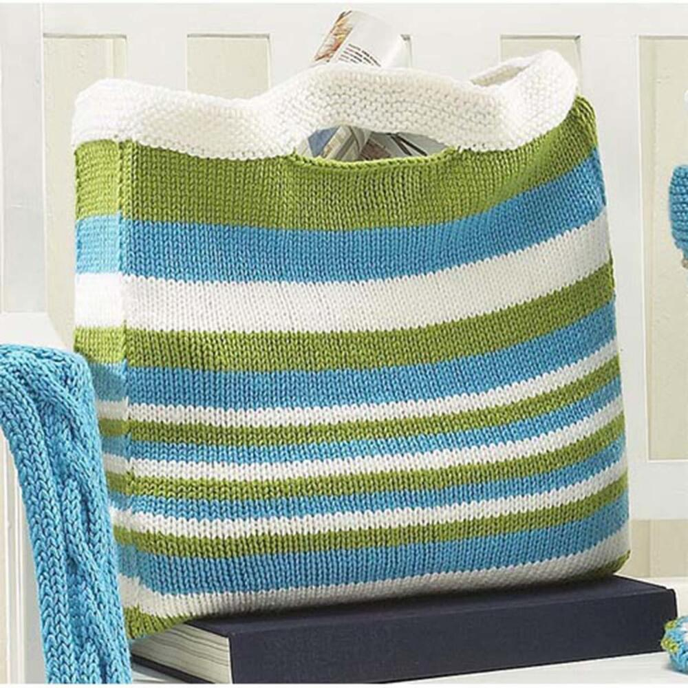 Knitted Bag Pattern Knitting Patterns Galore Simple Striped Bag