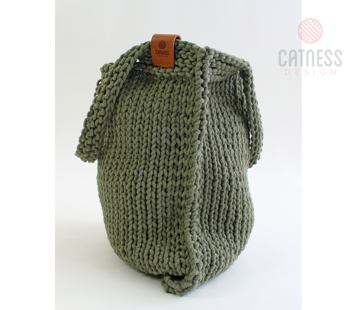 Knitted Bag Pattern Large Knitted Bag B112 Green