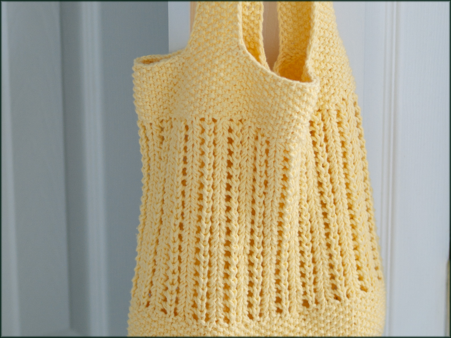 Knitted Bag Pattern Wyndlestraw Designs Market Bag Knit Along 7 Handles And Finishing