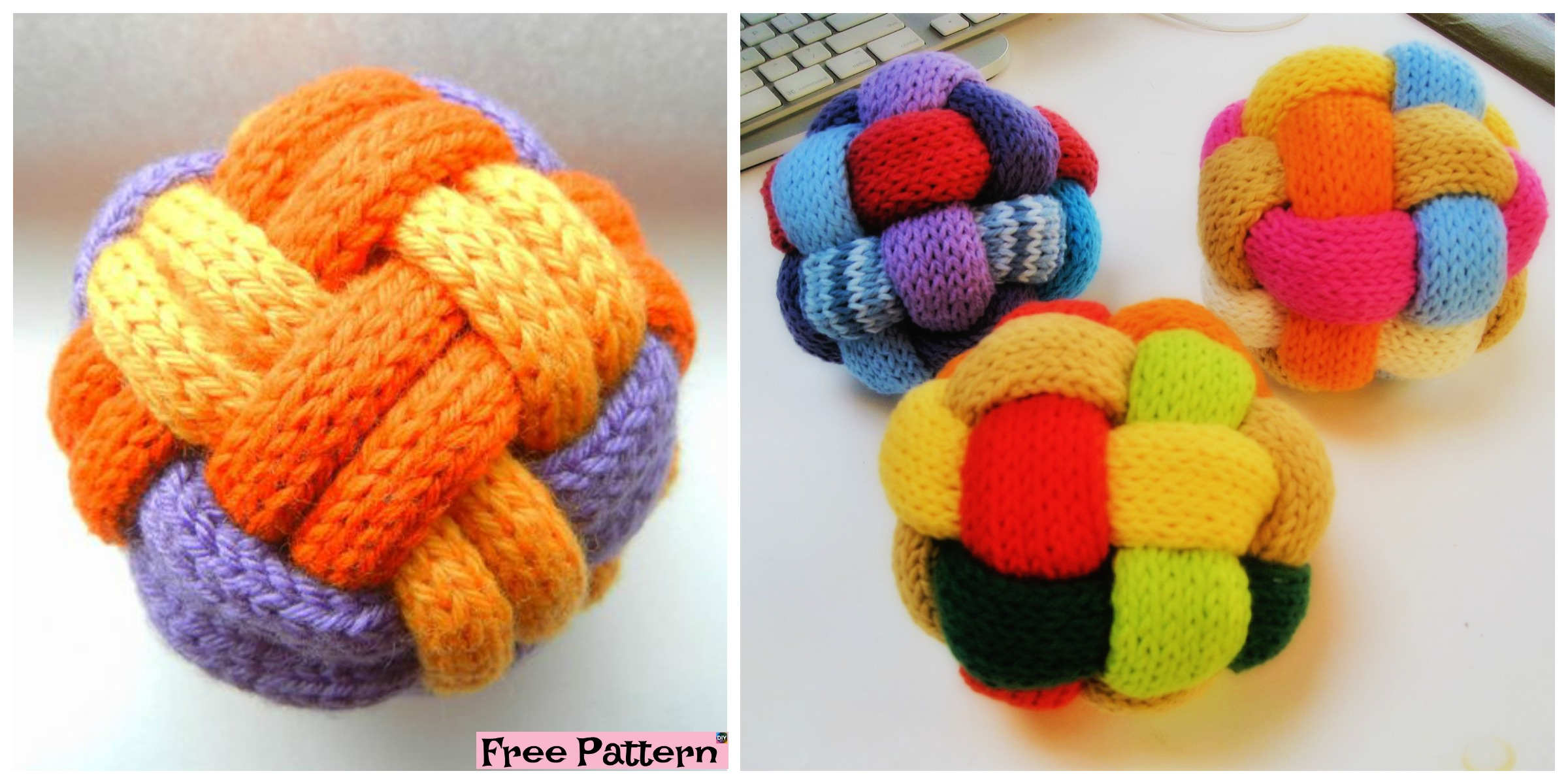 Knitted Ball Pattern Free Decorative Knitted Braided Ball Free Pattern Diy 4 Ever