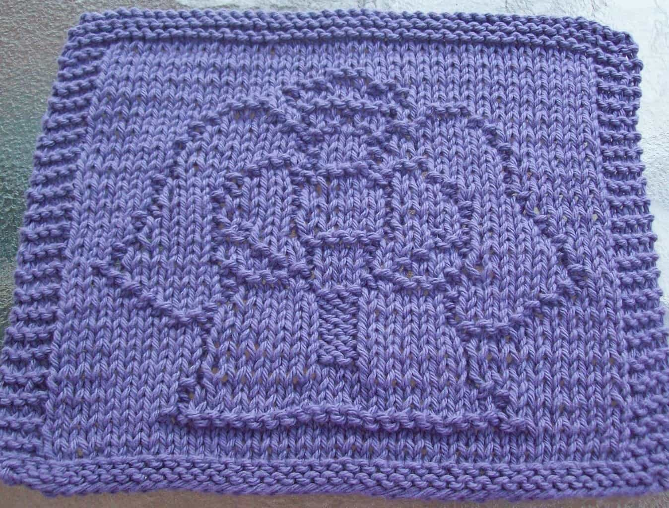 Knitted Butterfly Dishcloth Pattern Check Out These 26 Creative Dishcloth Patterns For Your Kitchen