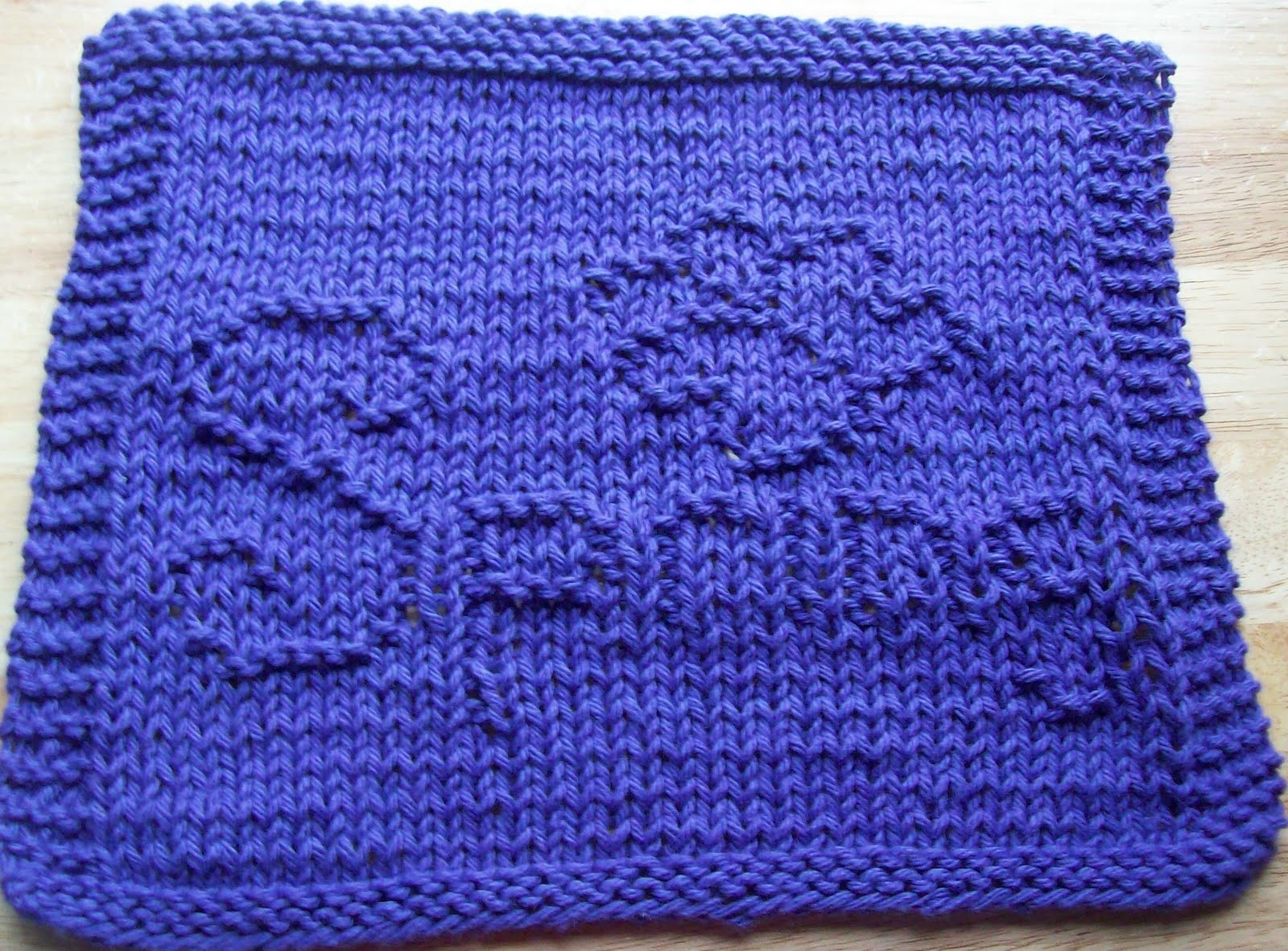 Knitted Butterfly Dishcloth Pattern Digknitty Designs February 2011