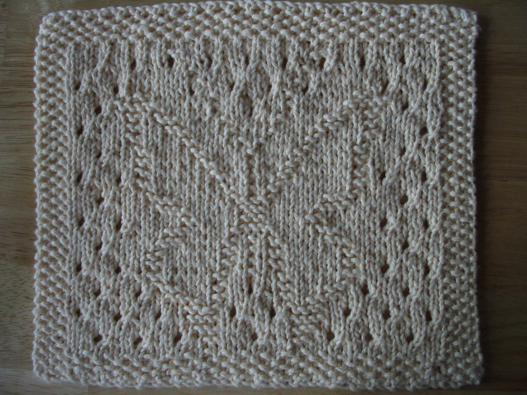 Knitted Butterfly Dishcloth Pattern Lacy Butterfly Dishcloth Amber Joy Flickr