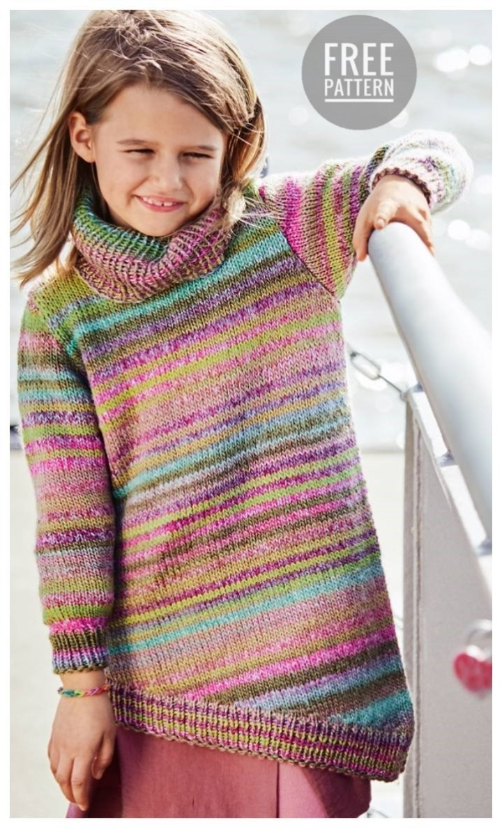 Knitted Childrens Sweaters Free Patterns Asymmetrical Childrens Sweater Free Pattern