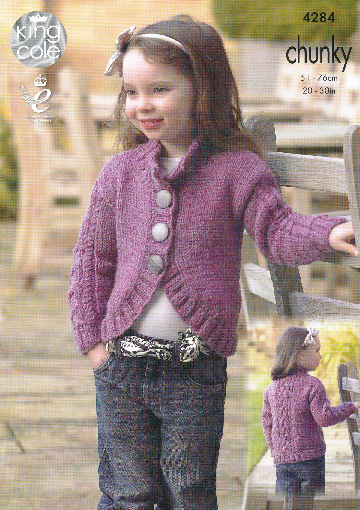 Knitted Childrens Sweaters Free Patterns Details About Kids Chunky Knitting Pattern King Cole Childrens Collar V Neck Cardigans 4284