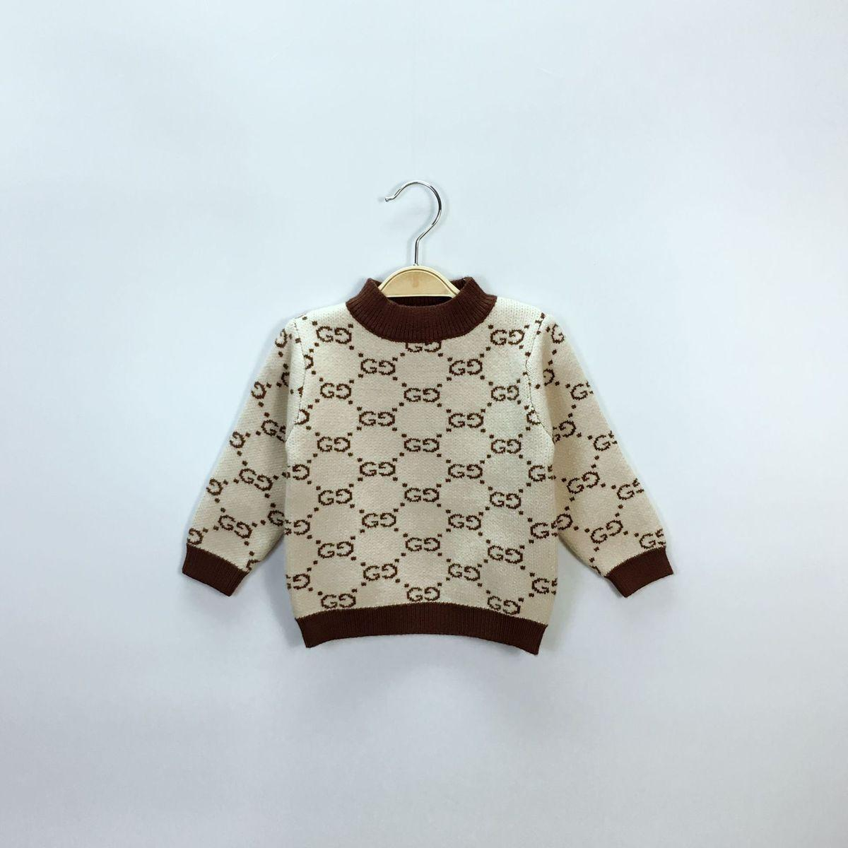 Knitted Childrens Sweaters Free Patterns Girl Sweater Korean Edition Autumn Jackets And Coats Winter For Double Letter Children Boys Knitting