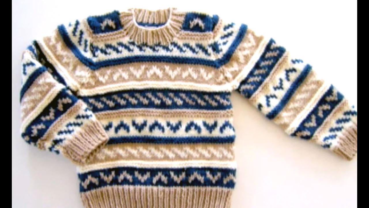 Knitted Childrens Sweaters Free Patterns How To Knit A Sweater With Knitting Needles Free Fair Isle Pattern