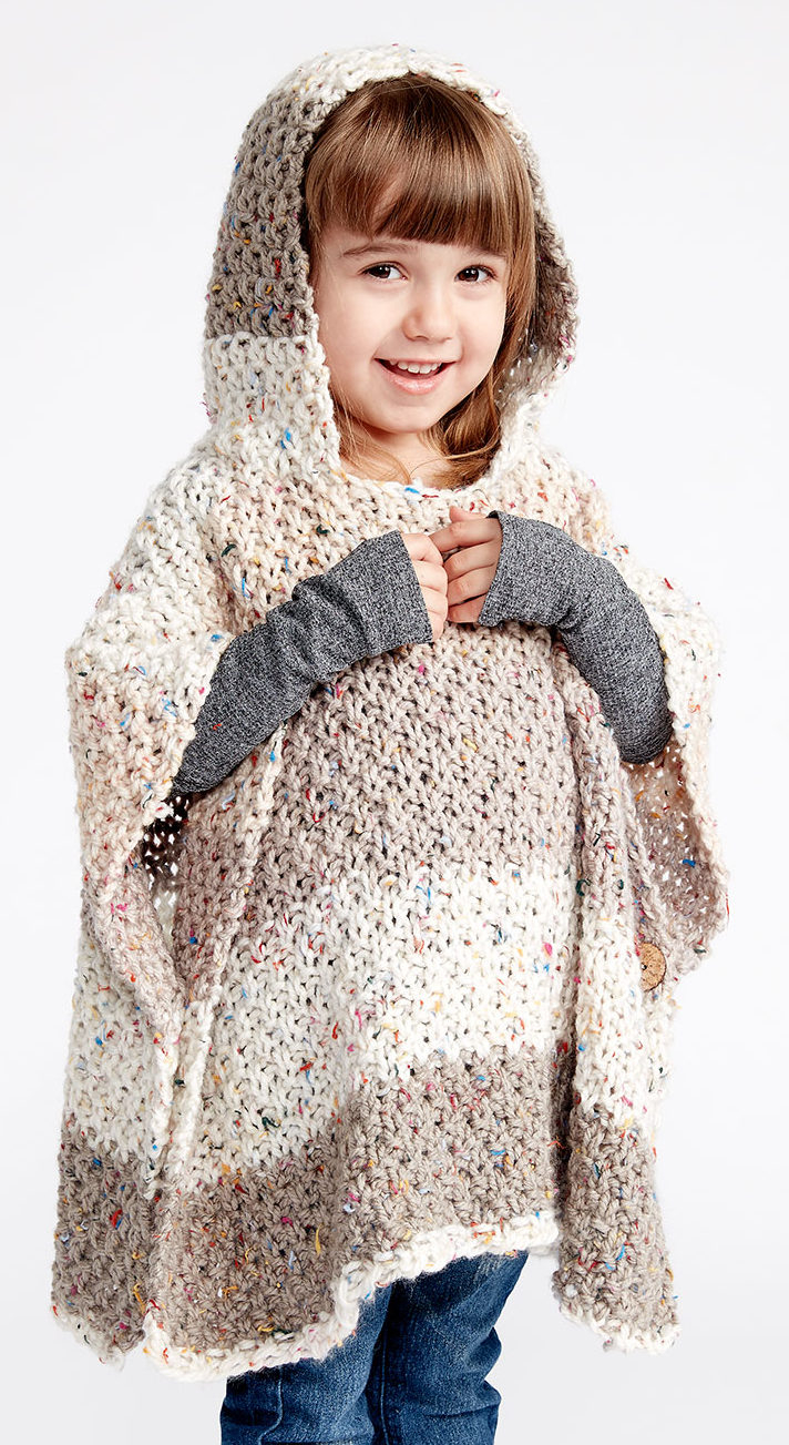 Knitted Childrens Sweaters Free Patterns Ponchos For Babies And Children In The Loop Knitting