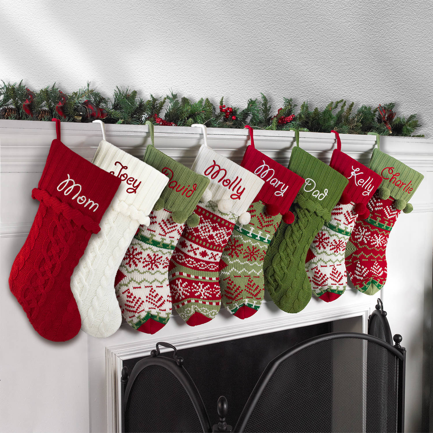 Knitted Christmas Stocking Patterns Personalized Using Kit To Knit Christmas Stockings Crochet And Knitting