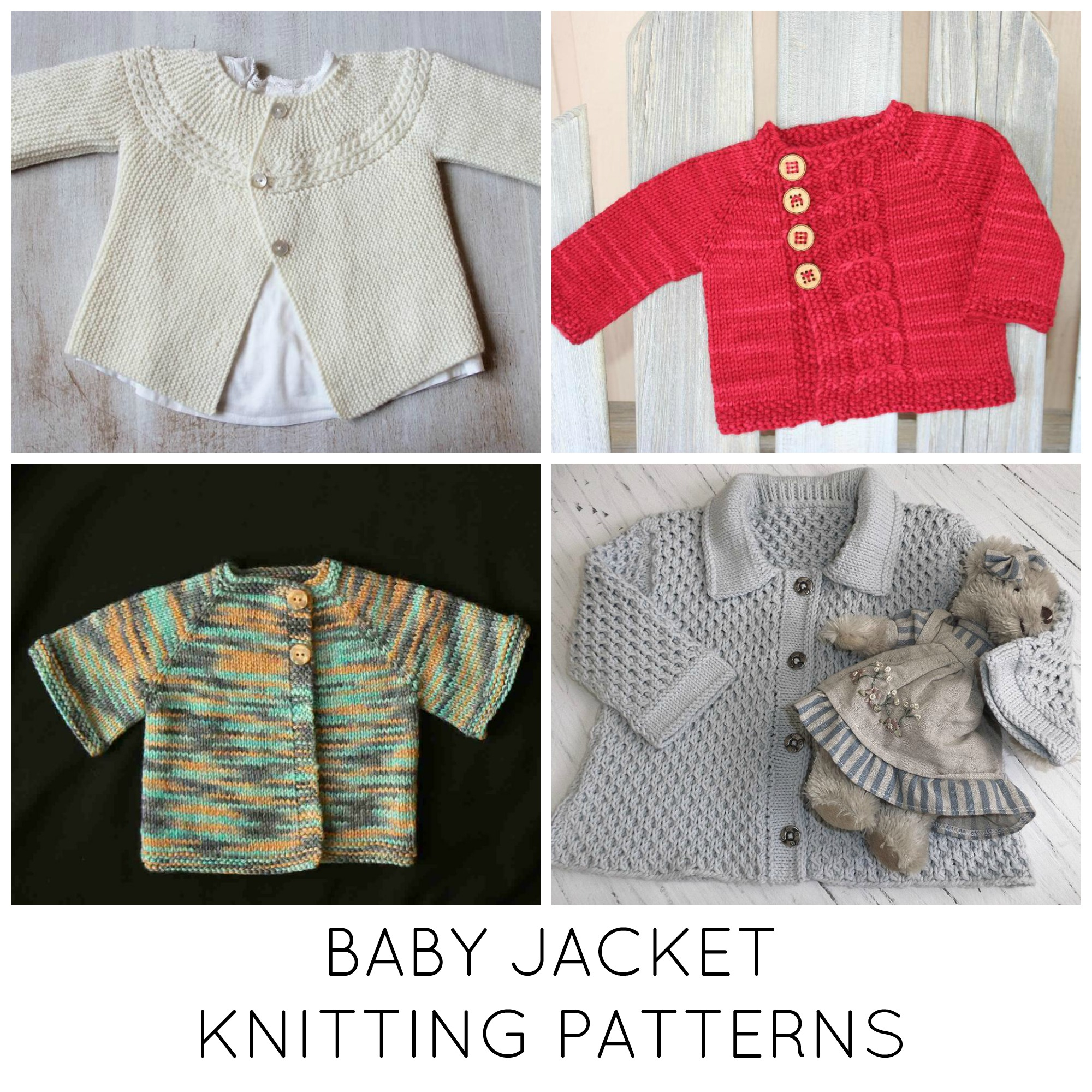 Knitted Coat Patterns 10 Ba Jacket Knitting Patterns Youll Love