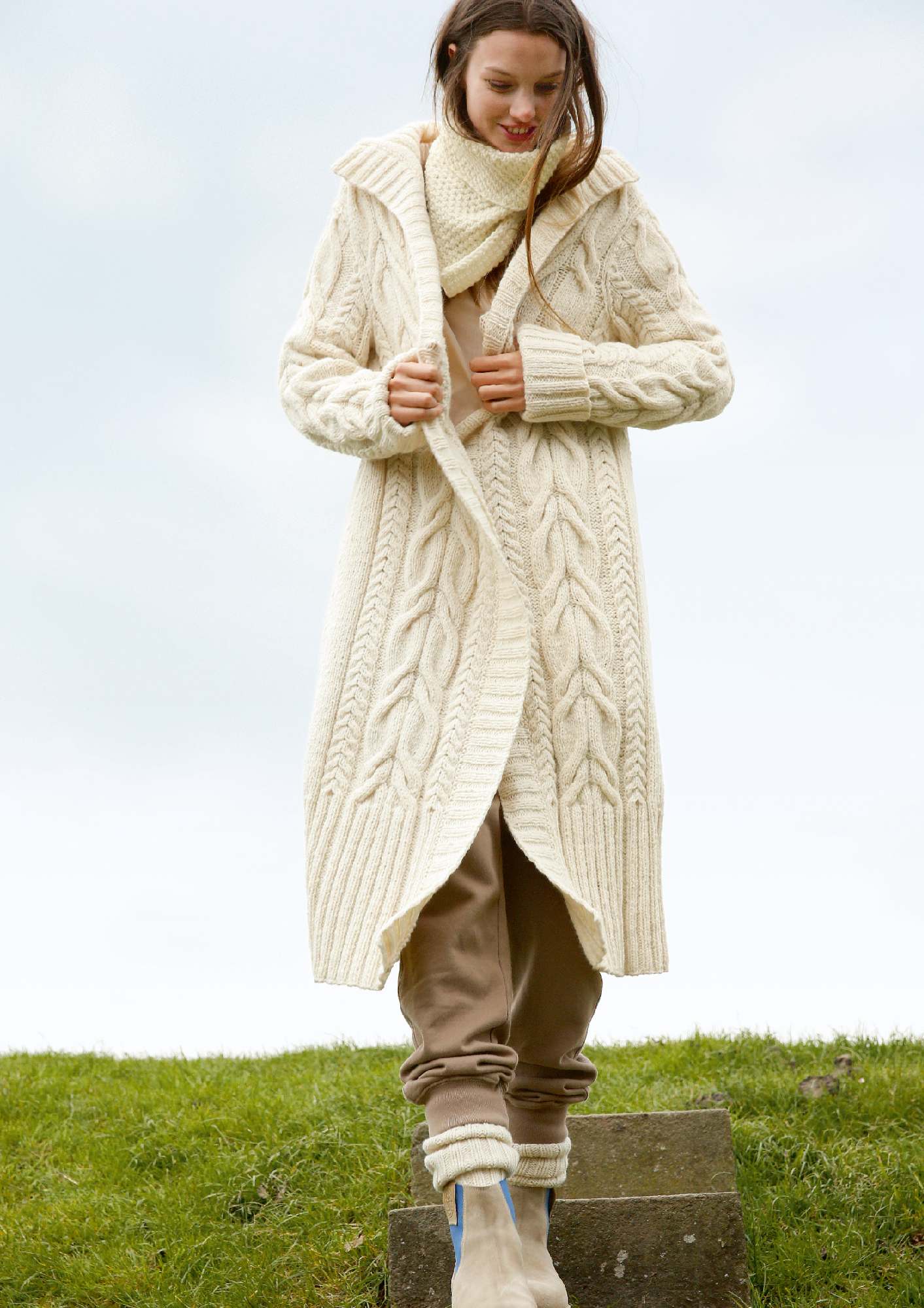 Knitted Coat Patterns Cable Knit Coat