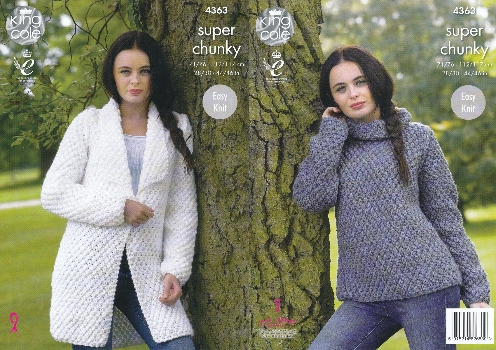 Knitted Coat Patterns Details About Ladies Super Chunky Knitting Pattern King Cole Easy Knit Sweater Jacket 4363