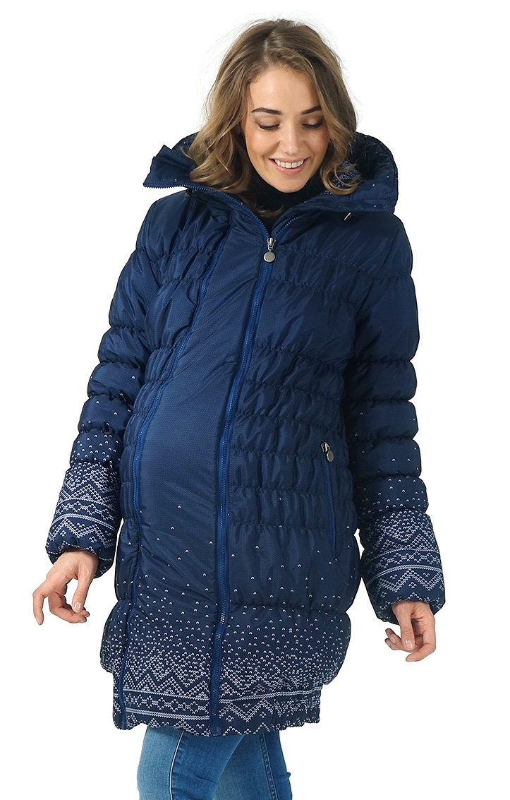 Knitted Coat Patterns Winter Jacket 3in1 Iceland Color Knitted Patterns