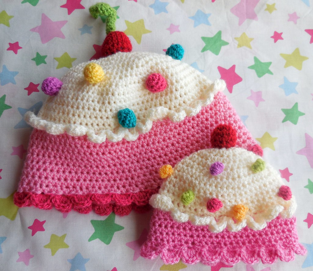 Knitted Cupcake Hat Pattern 0 6 Month Crochet Cupcake Hat Pattern Available On Etsy Flickr