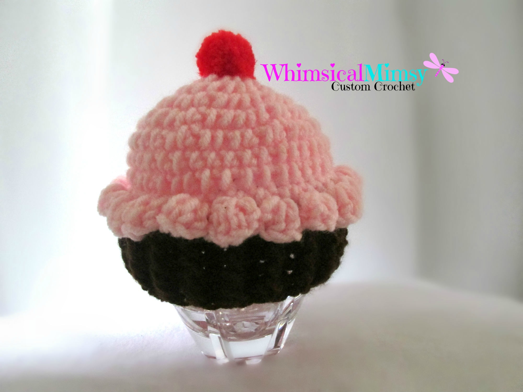 Knitted Cupcake Hat Pattern Crochet Ba Pink Cupcake Hat From Whimsical Mimsy