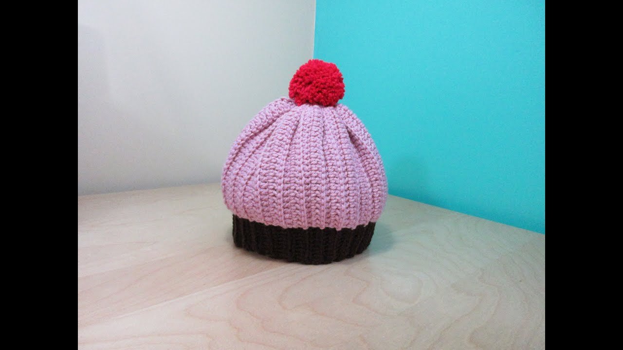 Knitted Cupcake Hat Pattern Crochet Cupcake Adult Hat With Ru Stedman