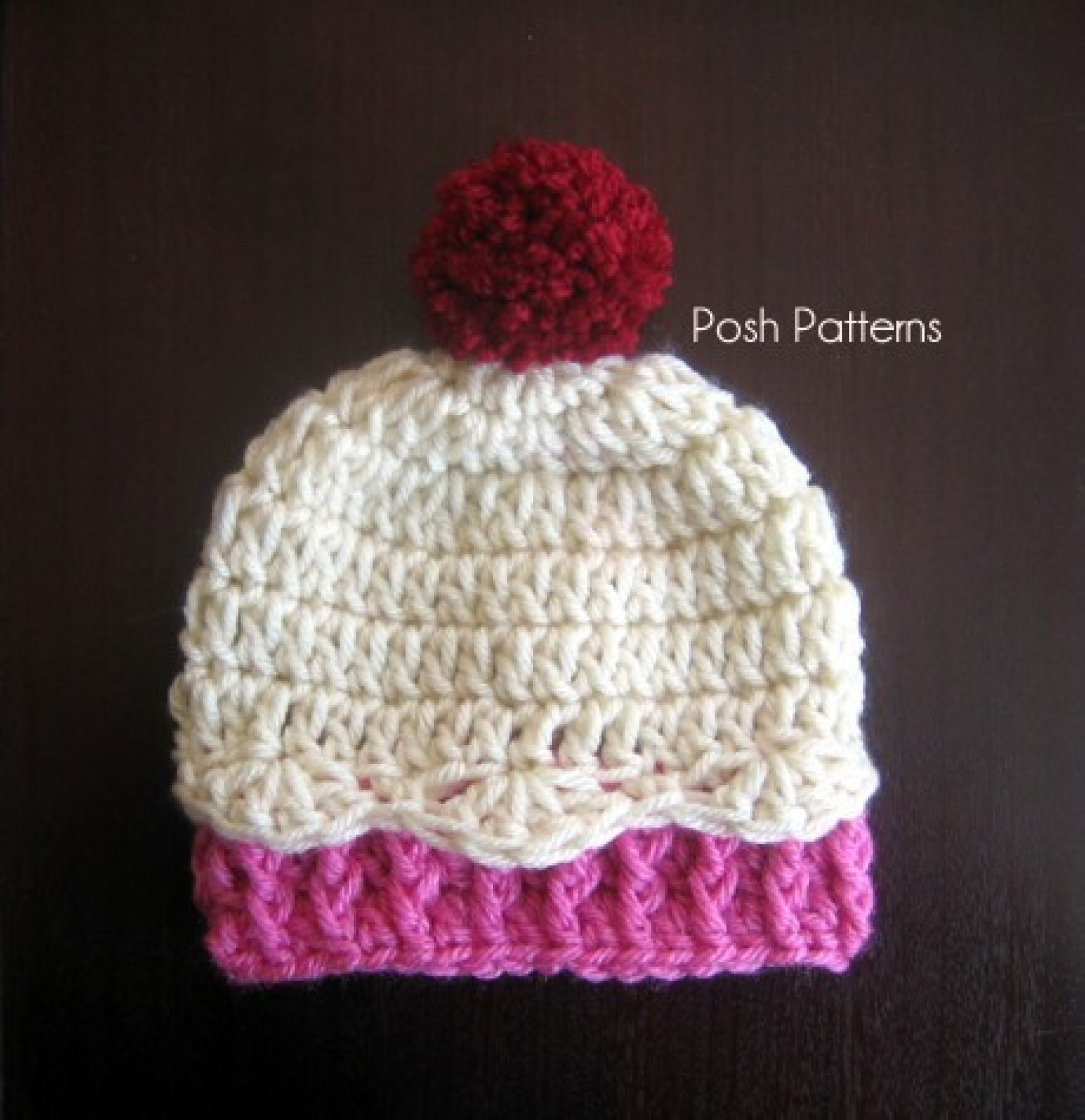Knitted Cupcake Hat Pattern Crochet Cupcake Hat Pattern 3 Sizes