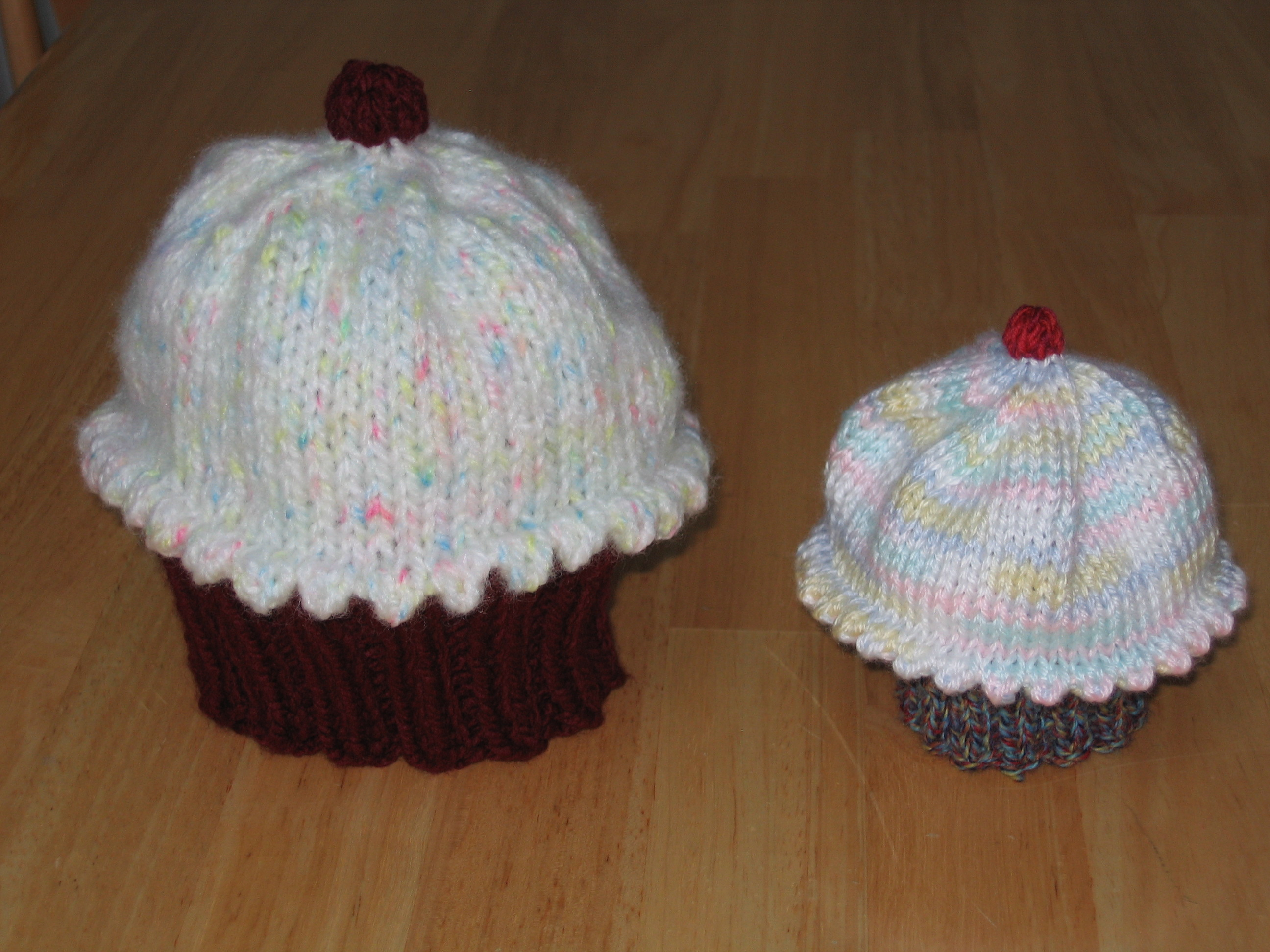 Knitted Cupcake Hat Pattern Cupcake Hat Pattern Ms Lifes Place