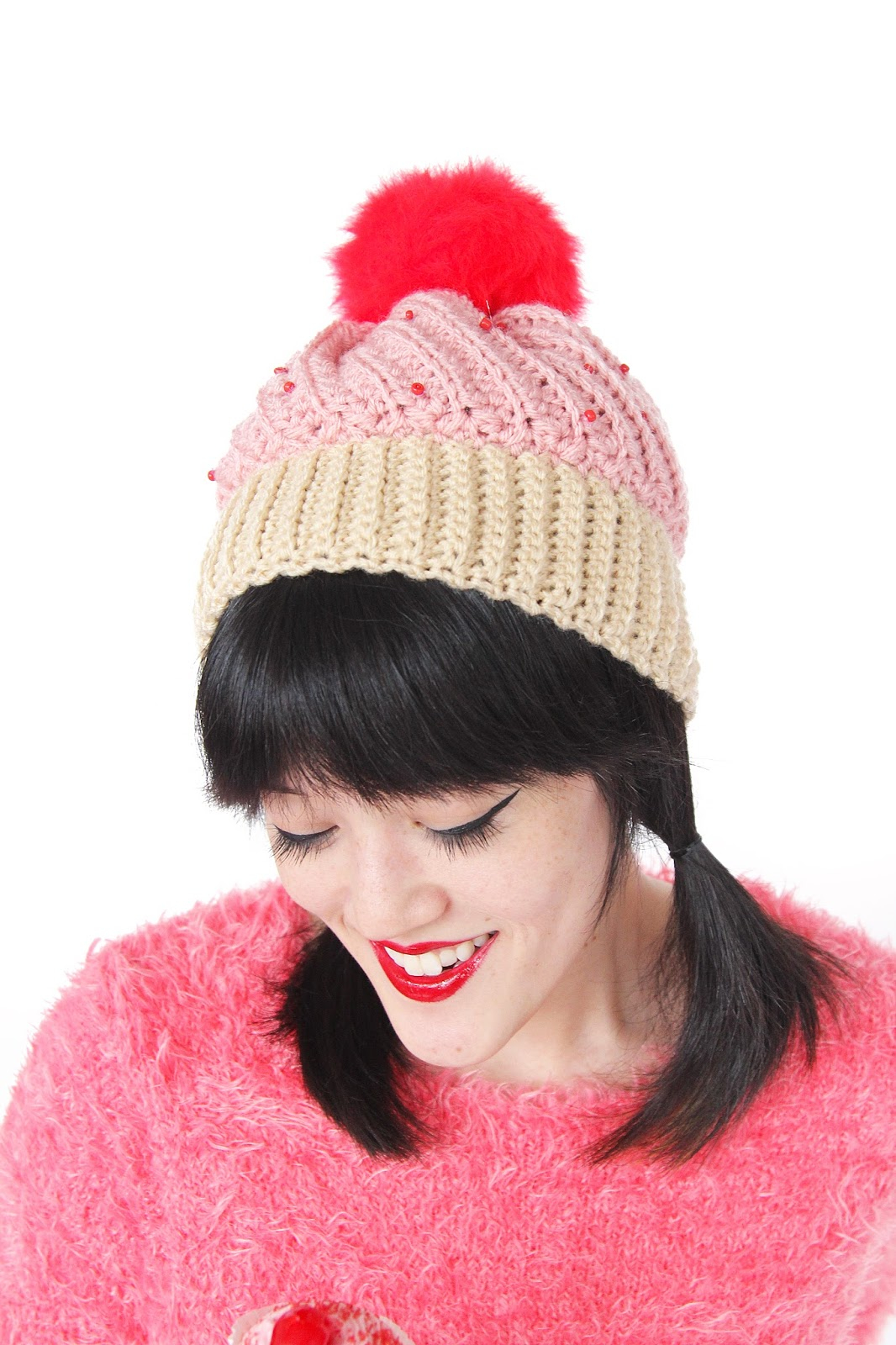 Knitted Cupcake Hat Pattern Diy Crochet Cupcake Hat