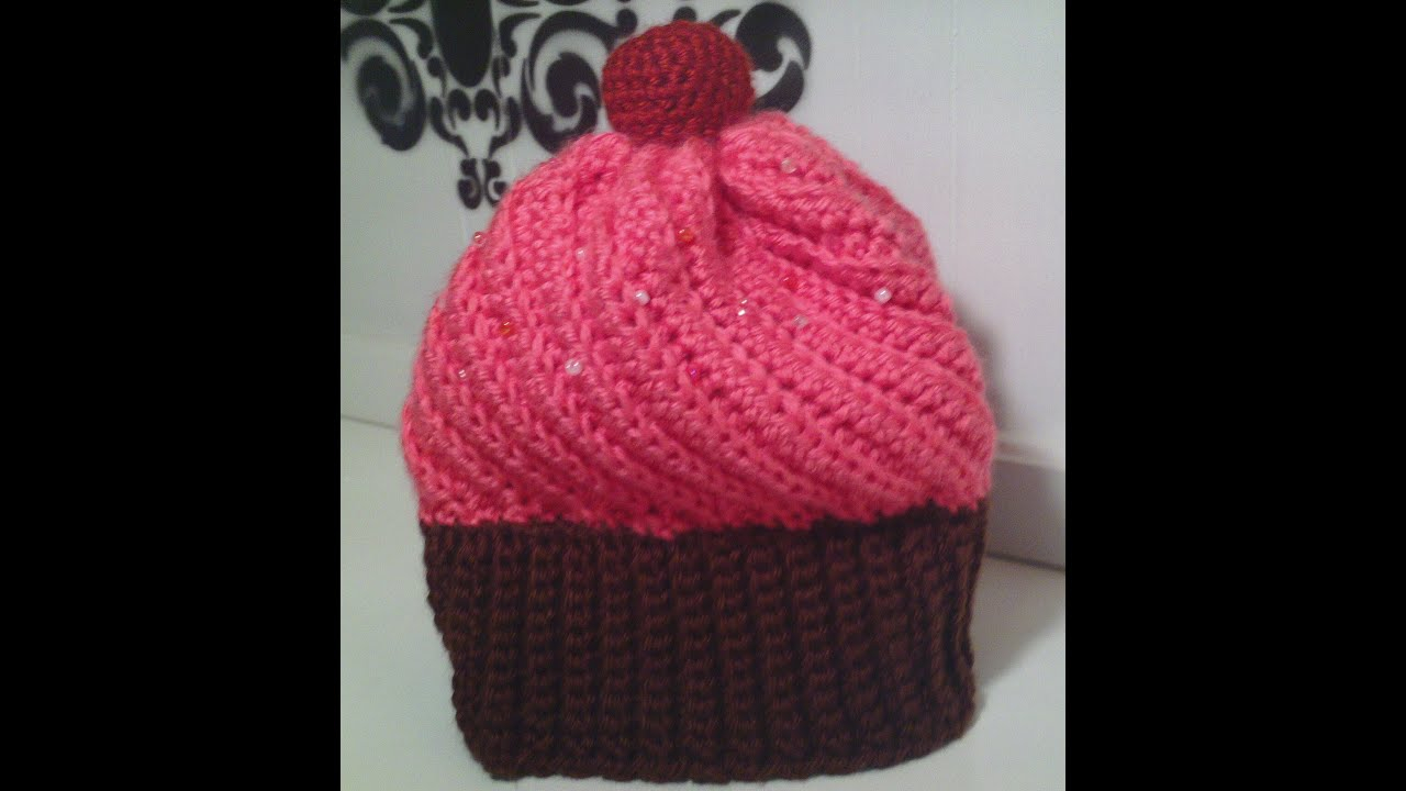 Knitted Cupcake Hat Pattern How To Make A Crochet Cupcake Hat