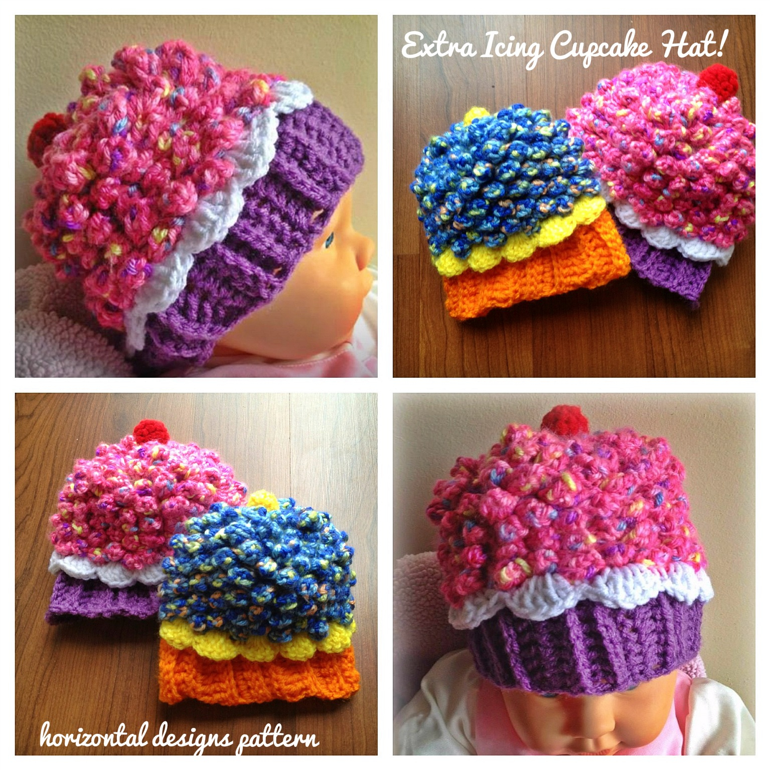 Knitted Cupcake Hat Pattern Studio Create Giveaway Cupcake Hat Extra Icing Pattern Five