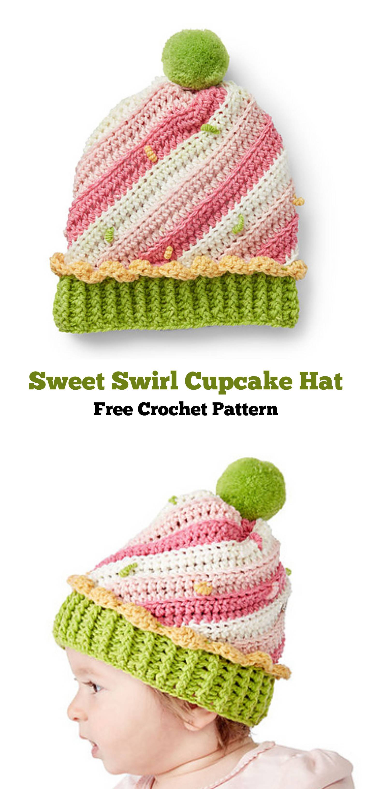 Knitted Cupcake Hat Pattern Sweet Swirl Crochet Cupcake Hat