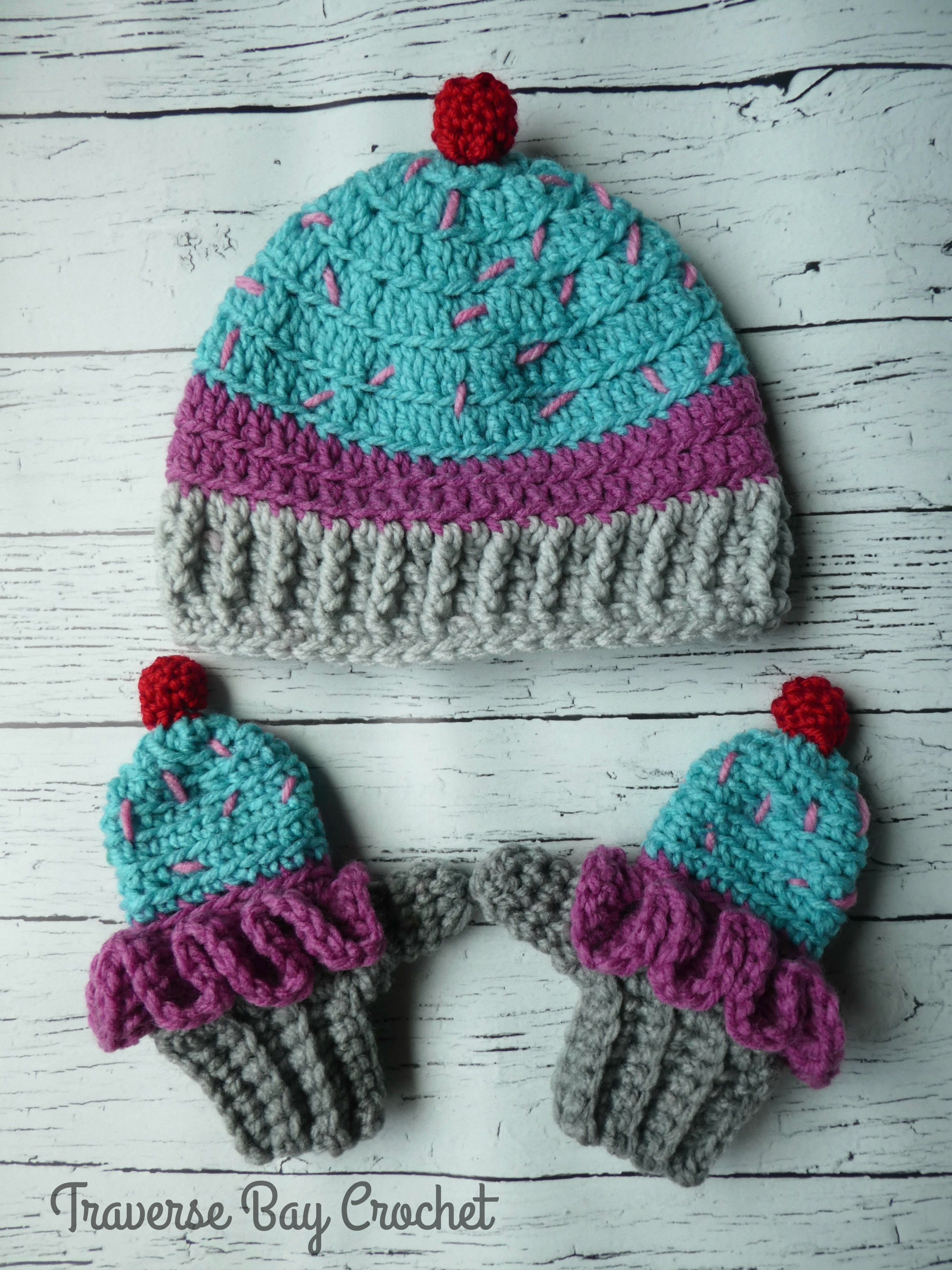 Knitted Cupcake Hat Pattern Toddler Crochet Cupcake Hat