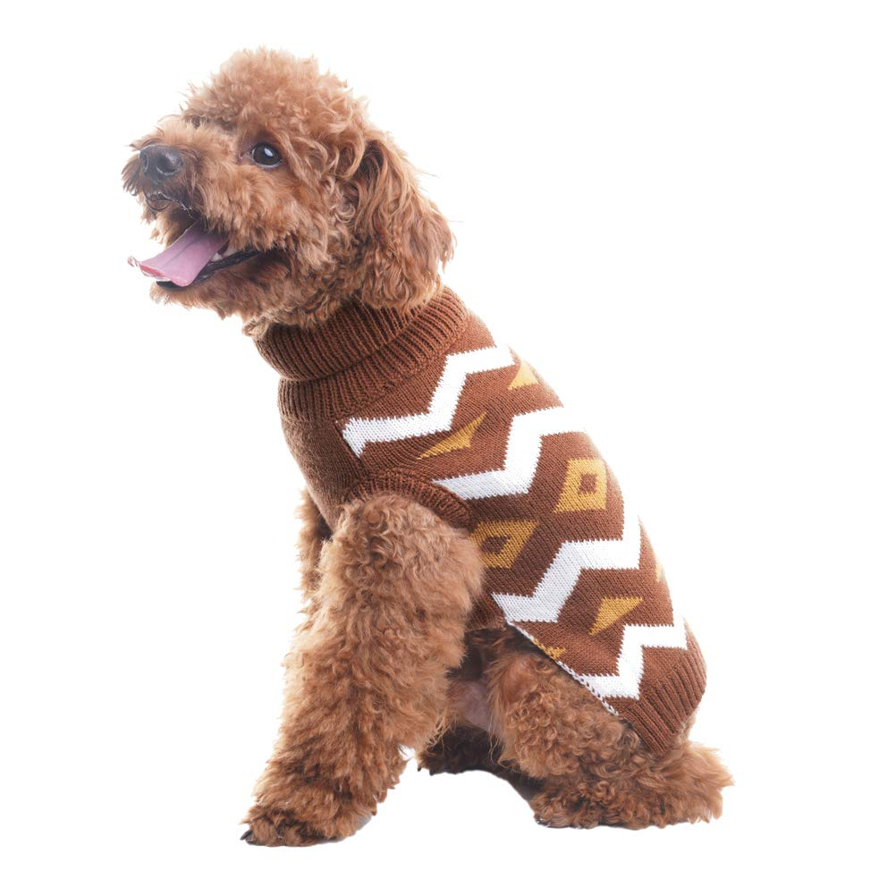 Knitted Dog Coat Pattern Details About Pet Dog Puppy Warm Knit Coat Clothes Sweater Vest Diamond Pattern Festive Coat