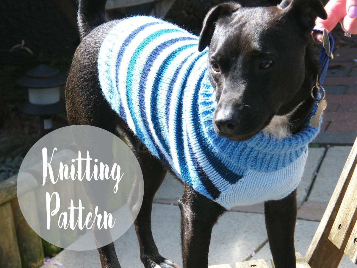 Knitted Dog Coat Pattern Dog Sweater Pattern Free Knitting Patterns Handy Little Me